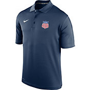 Nike Men's USA Hockey Crest Navy Performance Polo