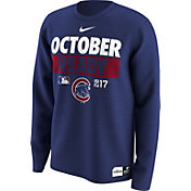 Nike Men's Chicago Cubs 2017 MLB Postseason Dri-FIT Authentic Collection 'October Ready' Royal Long Sleeve Shirt