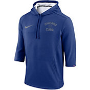 Nike Men's Chicago Cubs Three-Quarter Sleeve Hooded Fleece Pullover