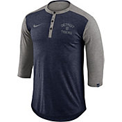 Nike Men's Detroit Tigers Dri-FIT Three-Quarter Sleeve Henley Shirt