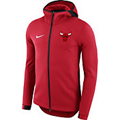 Nike Men's Chicago Bulls On-Court Red Dri-FIT Showtime Full-Zip Hoodie