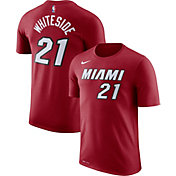 Nike Men's Miami Heat Hassan Whiteside #21 Dri-FIT Red T-Shirt