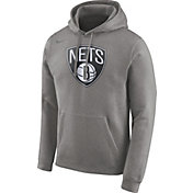Nike Men's Brooklyn Nets Club Grey Pullover Hoodie
