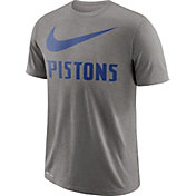 Nike Men's Detroit Pistons Dri-FIT Legend Grey T-Shirt