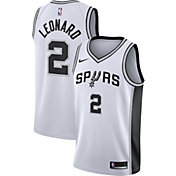 Nike Men's San Antonio Spurs Kawhi Leonard #2 White Dri-FIT Swingman Jersey