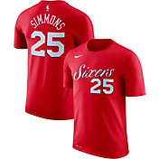 Nike Men's Philadelphia 76ers Ben Simmons #25 Dri-FIT Red T-Shirt
