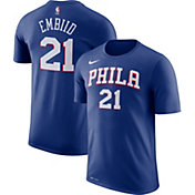 Nike Men's Philadelphia 76ers Joel Embiid #21 Dri-FIT Royal T-Shirt