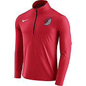 Nike Men's Portland Trail Blazers Dri-FIT Red Element Half-Zip Pullover