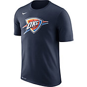 Nike Men's Oklahoma City Thunder Dri-FIT Navy Logo T-Shirt