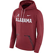 Nike Men's Alabama Crimson Tide Crimson Therma Player Elite Pullover Hoodie