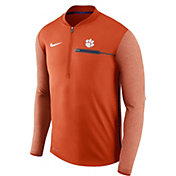 Nike Men's Clemson Tigers Orange Coach Half-Zip Football Sideline Jacket