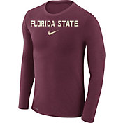 Nike Men's Florida State Seminoles Garnet Marled Dri-FIT Long Sleeve Shirt