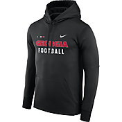 Nike Men's Georgia Bulldogs Football Sideline Black Therma-FIT Hoodie