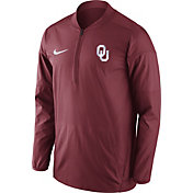 Nike Men's Oklahoma Sooners Crimson Lockdown Sideline Half-Zip Jacket
