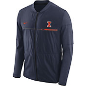 Nike Men's Illinois Fighting Illini Blue Elite Hybrid Football Full-Zip Jacket