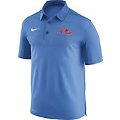 Nike Men's Ole Miss Rebels Light Blue Elite Football Sideline Polo