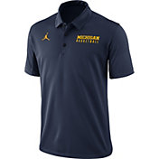 Jordan Men's Blue Michigan Wolverines Basketball Polo