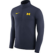 Nike Men's Michigan Wolverines Blue Element Performance Quarter-Zip