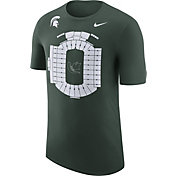 Nike Men's Michigan State Spartans Green Local Imagery Football Stadium T-Shirt