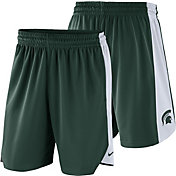 Nike Men's Michigan State Spartans Green Basketball Practice Shorts