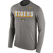 Nike Men's Missouri Tigers Grey Dri-FIT Franchise Long Sleeve T-Shirt
