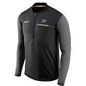 Nike Men's Purdue Boilermakers Coach Black Half-Zip Football Sideline Jacket