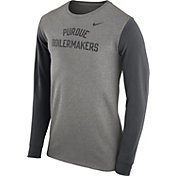 Nike Men's Purdue Boilermakers Grey Heavyweight Elevated Essentials Long Sleeve Shirt