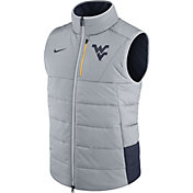 Nike Men's West Virginia Mountaineers Grey/Blue Football Sideline Vest