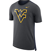 Nike Men's West Virginia Mountaineers Anthracite Travel Meshback Dri-FIT Football T-Shirt