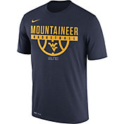 Nike Men's West Virginia Mountaineers Blue ELITE Basketball Legend T-Shirt