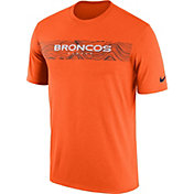 Nike Men's Denver Broncos Sideline Seismic Legend Performance Orange T-Shirt