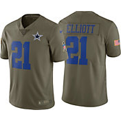 Nike Men's Home Limited Salute to Service 2017 Dallas Cowboys Ezekiel Elliott #21 Jersey
