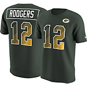 Nike Men's Green Bay Packers Aaron Rodgers #12 Prism Player Green T-Shirt