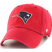 '47 Men's New England Patriots Clean Up Red Adjustable Hat