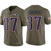 Nike Men's Home Limited Salute to Service 2017 New England Patriots Rob Gronkowski #87 Jersey