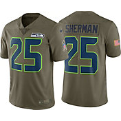 Nike Men's Home Limited Salute to Service 2017 Seattle Seahawks Richard Sherman #25 Jersey