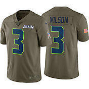 Nike Men's Home Limited Salute to Service Seattle Seahawks Russell Wilson #3 Jersey