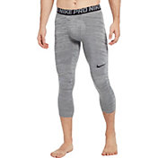 Nike Men's Pro 3/4 Length Heather Tights