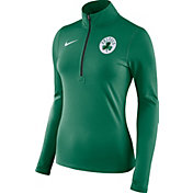Nike Women's Boston Celtics Dri-FIT Kelly Green Element Half-Zip Pullover