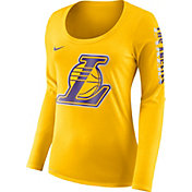 Nike Women's Los Angeles Lakers Dri-FIT Gold Logo Long Sleeve Shirt