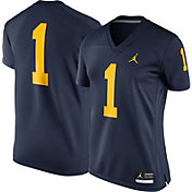 Jordan Women's Michigan Wolverines #1 Blue Game Football Jersey