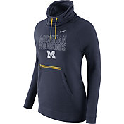 Nike Women's Michigan Wolverines Blue Modern Funnel Hoodie
