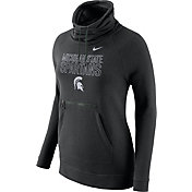 Nike Women's Michigan State Spartans Black Modern Funnel Hoodie