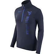 Nike Women's West Virginia Mountaineers Heathered Blue Element Half-Zip Shirt