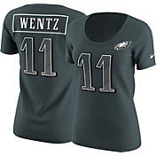 Nike Women's Philadelphia Eagles Carson Wentz #11 Prism Player Green T-Shirt