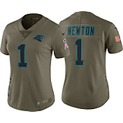Nike Women's Home Limited Salute to Service 2017 Carolina Panthers Cam Newton #1 Jersey