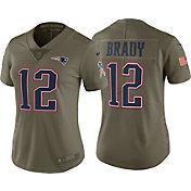 Nike Women's Home Limited Salute to Service 2017 New England Patriots Tom Brady #12 Jersey