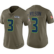Nike Women's Home Limited Salute to Service Seattle Seahawks Russell Wilson #3 Jersey
