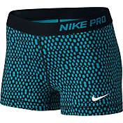 Nike Women's 3'' Pro Mirror Mesh Printed Shorts