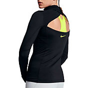Nike Pro Hyperwarm Back Wrap Long Sleeve Half Zip Shirt